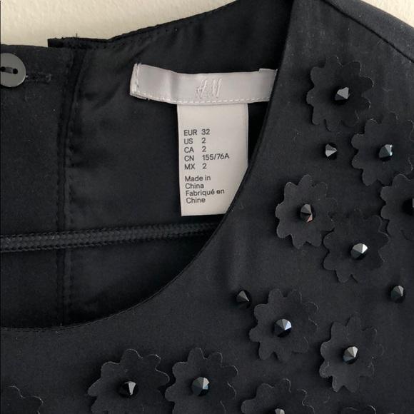 66fc7abb294d2 H&M Dresses | Size 2 Black Hm Embellished Dress | Poshmark